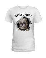 Shih Tzu 6 Feet People Shirt Ladies T-Shirt front