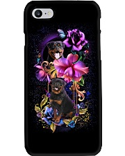Rottweiler Dog Flower Phone Case Phone Case i-phone-8-case