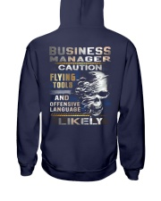 Business Manager Hooded Sweatshirt back