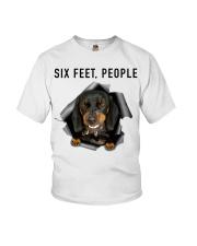 Dachshund 6 Feet People Shirt Youth T-Shirt tile
