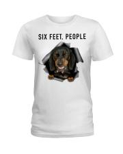 Dachshund 6 Feet People Shirt Ladies T-Shirt tile