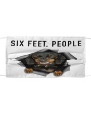 Dachshund 6 Feet People Shirt Mask tile