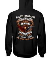 SalesManager-angel Hooded Sweatshirt back