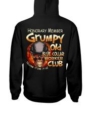 Blue Collar Worker Hooded Sweatshirt back