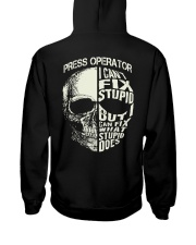 Press Operator Hooded Sweatshirt back