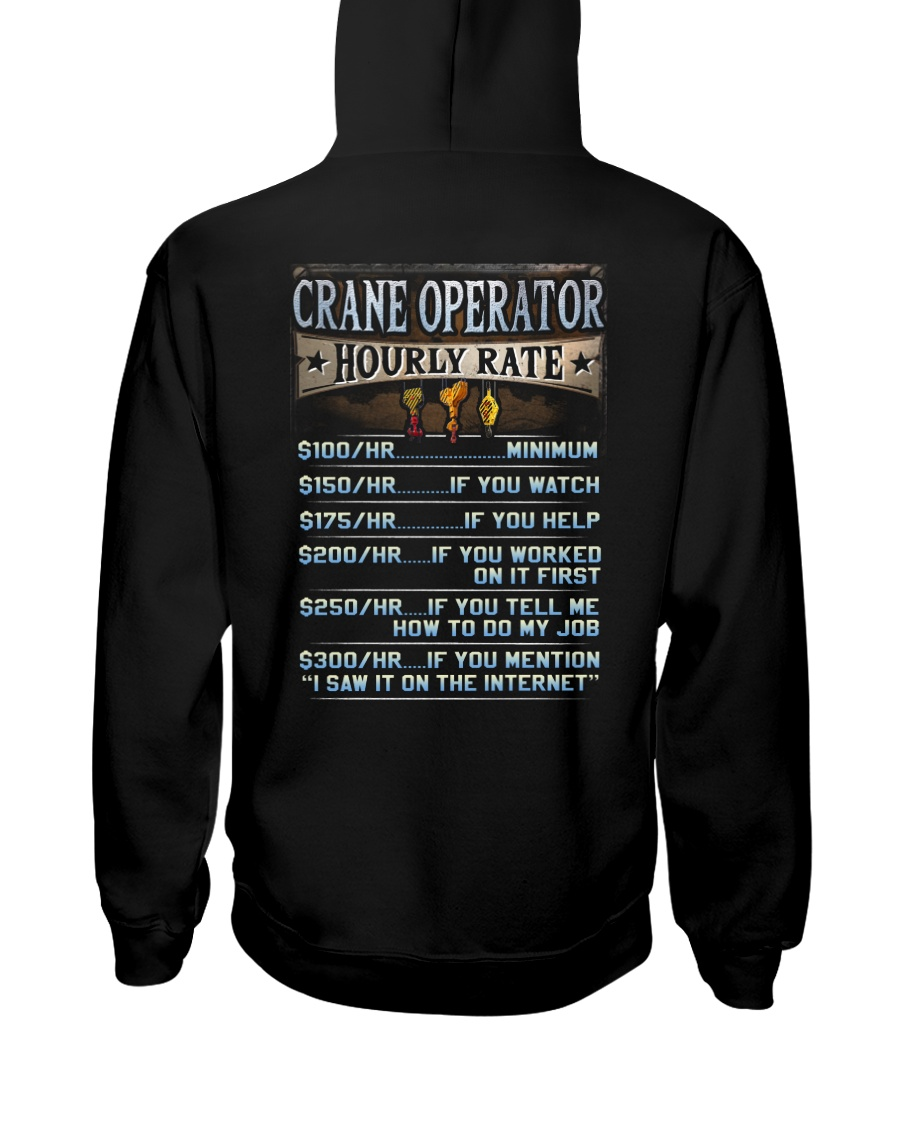 Crane Operator Hooded Sweatshirt