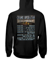 Crane Operator Hooded Sweatshirt back