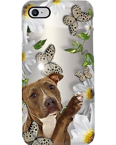 Pitbull Flower Phone Case