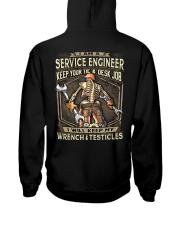 Service Engineer Hooded Sweatshirt back