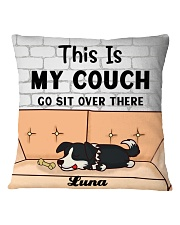 Border Collie Personalized Text Square Pillowcase front