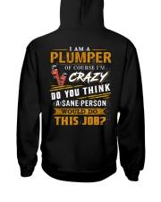 Plumber Hooded Sweatshirt back