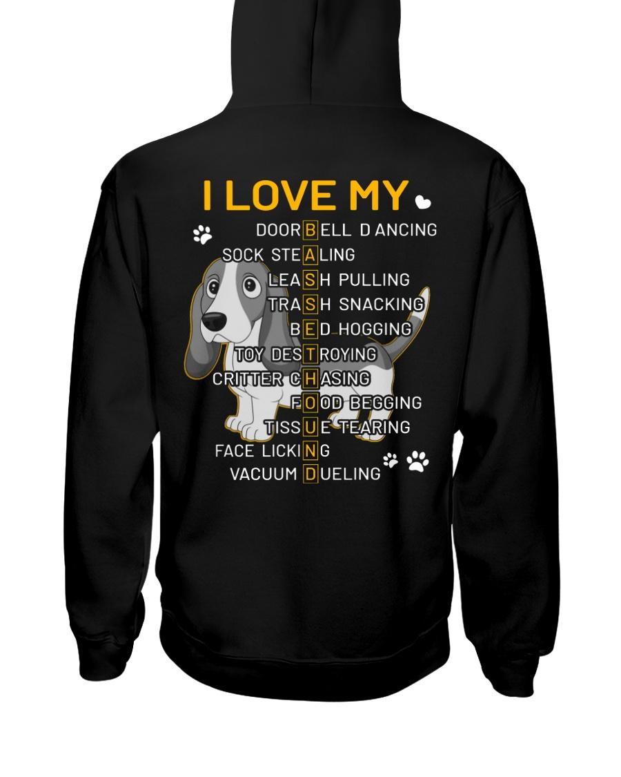 I Love My Basset Hound Dog Hooded Sweatshirt