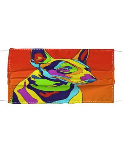 Bull Terrier Art Face Mask