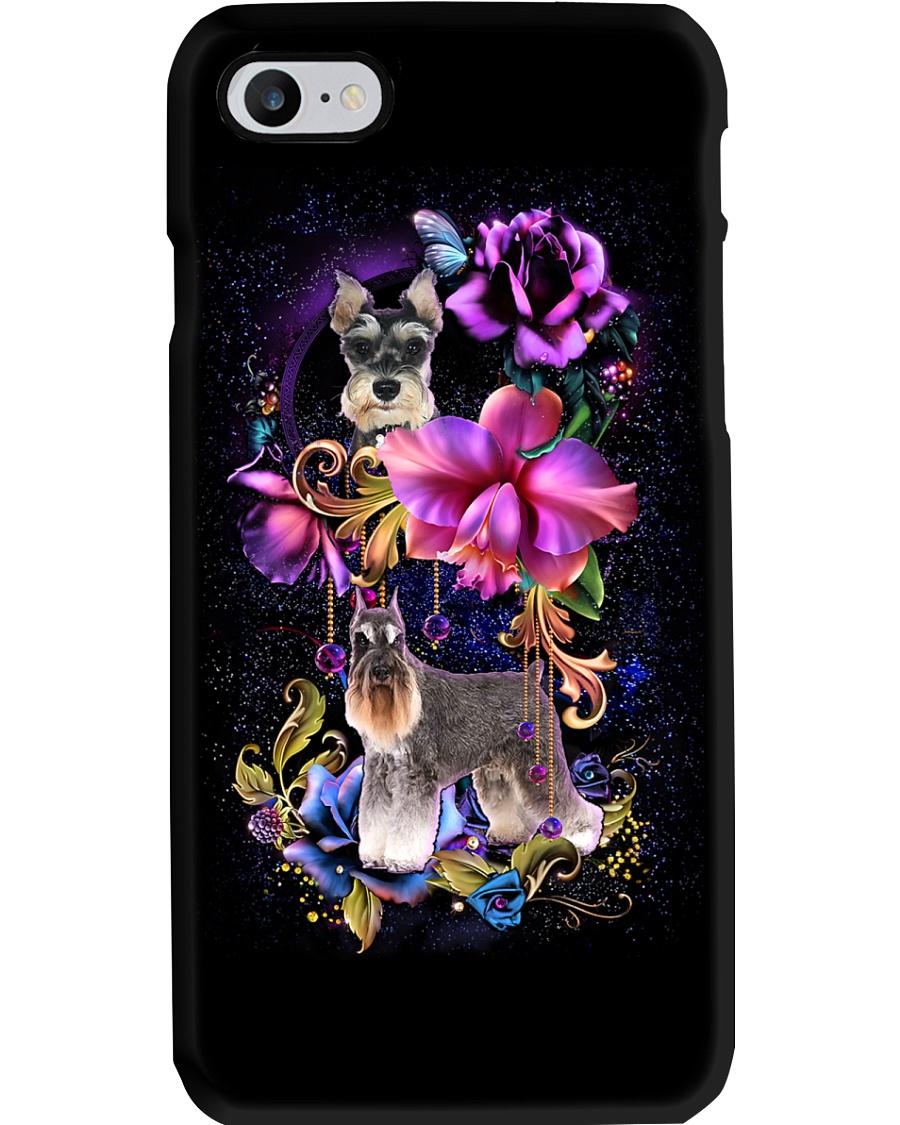 Schnauzer Dog Flower Phone Case Phone Case