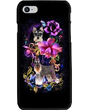 Schnauzer Dog Flower Phone Case Phone Case i-phone-8-case
