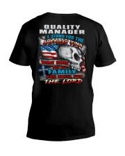 Quality Manager V-Neck T-Shirt thumbnail