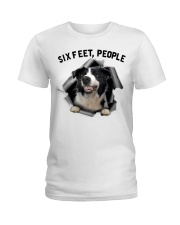 Border Collie 6 Feet People Limited Edition Ladies T-Shirt thumbnail
