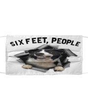 Border Collie 6 Feet People Limited Edition Cloth face mask front