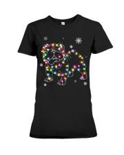 BullDog Dog Christmas Shirt Premium Fit Ladies Tee tile