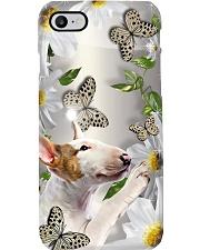 Bull Terrier Dog Flower Phone Case Phone Case i-phone-8-case