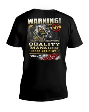 Quality Manager V-Neck T-Shirt thumbnail