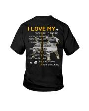 I Love My Bull Terrier Dogs Youth T-Shirt tile