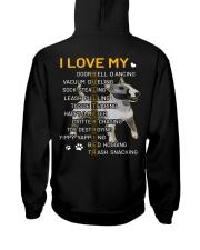 I Love My Bull Terrier Dogs Hooded Sweatshirt back