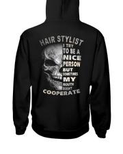 Hair Stylist Hooded Sweatshirt back