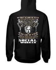 Social Worker Hooded Sweatshirt back
