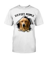 Golden Retriever 6 Feet People Shirt Classic T-Shirt tile