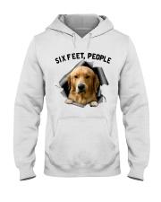 Golden Retriever 6 Feet People Shirt Hooded Sweatshirt tile