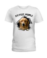 Golden Retriever 6 Feet People Shirt Ladies T-Shirt front