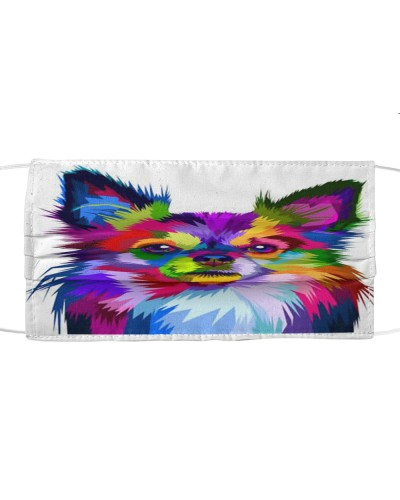 Chihuahua Longhaired Face Mask