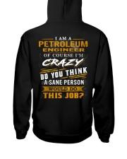 Petroleum Engineer Hooded Sweatshirt back