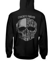 Concrete Finisher Exclusive Shirt Hooded Sweatshirt back