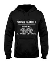 Woman Installer Exclusive Shirt Hooded Sweatshirt front