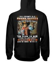 Prison Officer Hooded Sweatshirt back