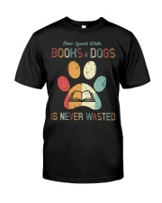Dogs and Books Lover Classic T-Shirt front