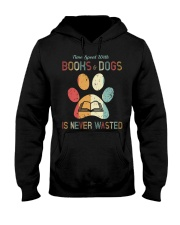 Dogs and Books Lover Hooded Sweatshirt thumbnail