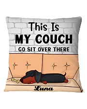 Dachshund Personalized Text Square Pillowcase front