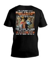 Blue Collar Worker V-Neck T-Shirt thumbnail