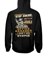 Office Manager Hooded Sweatshirt back