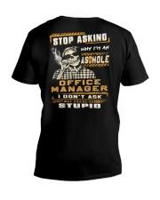 Office Manager V-Neck T-Shirt thumbnail