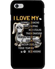 I Love My Dachshund Dogs Phone Case tile
