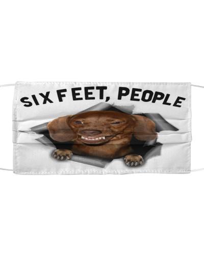 Dachshund 6 Feet Face Mask