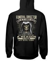 Funeral Director Hooded Sweatshirt back
