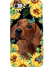 Dachshund Flower Phone Case Phone Case i-phone-7-case