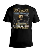 Flight Attendant V-Neck T-Shirt thumbnail