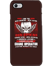 CRANE OPERATOR SHIRT Phone Case thumbnail