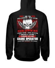 CRANE OPERATOR SHIRT Hooded Sweatshirt back